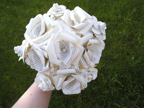 Wedding Bouquet Made From Books by Book Paper Bridal Wedding Bouquet Bridal Bouquet