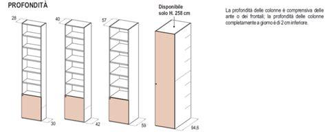 profondità cabina armadio le misure degli armadi dielle