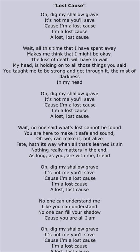 lyrics cause i about my imagine dragons lost cause imagine dragons