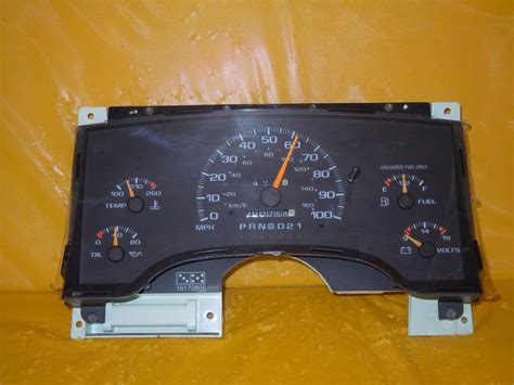 95 chevy truck speedometer 95 blazer s10 jimmy sonoma s15 speedometer instrument cluster dash panel 117 758 ebay