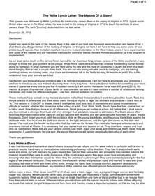 willie lynch letter crna cover letter