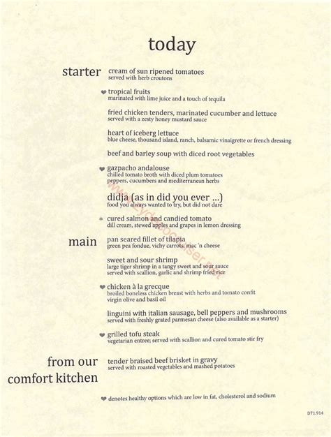 carnival valor room service menu carnival cruise 7 day mdr dinner menus food pictures carnival pride cruise to western
