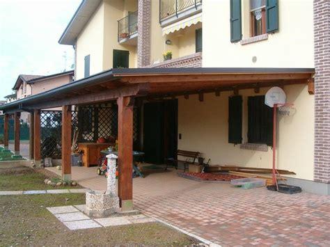 tettoia addossata tettoie legno falegnameria serena