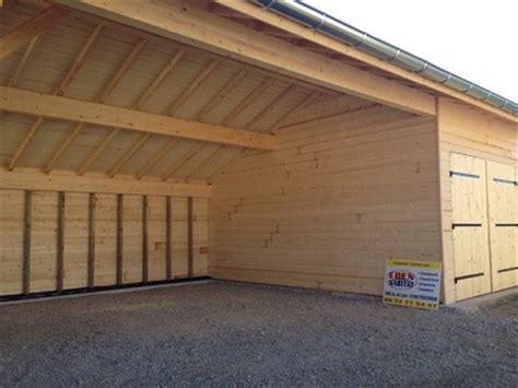 Garage Pool House abris jardin partie ouverte et garage ferm 233 en ossature