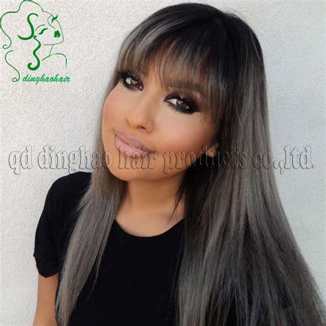 dark hair with grey models all hair makeover grey black hair colour