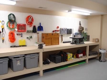 garage bench and storage 25 best ideas about basement workshop on pinterest