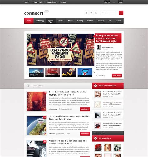 28 Amazing Psd Magazine Website Templates Web Graphic Design Bashooka Website Magazine Template