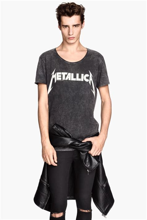 Metallica Black T Shirt t shirt with printed design nearly black metallica sale h m us