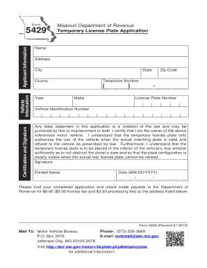 format templates temp id fill printable paper template for temp missouri driver lic fill