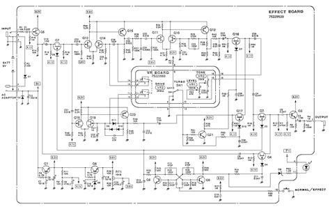 od 2 turbo overdrive guitar pedal schematic diagram