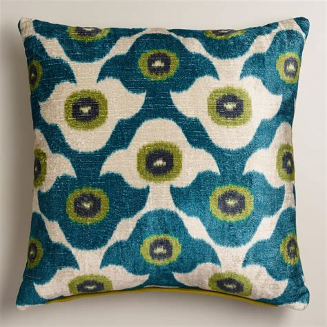 Cool Sofa Pillows Cool Blue Taza Throw Pillow World Market