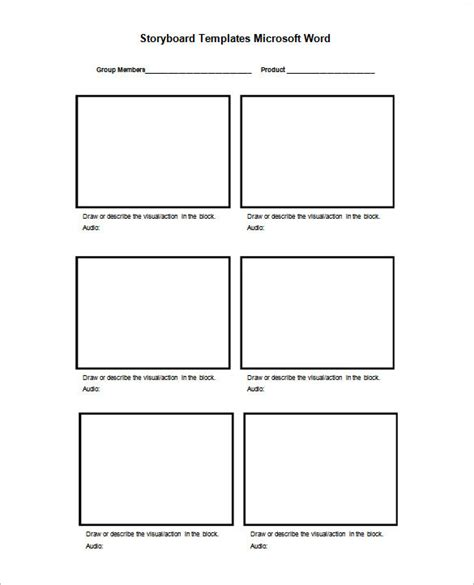 storyboards templates storyboard template 77 free word pdf ppt psd format