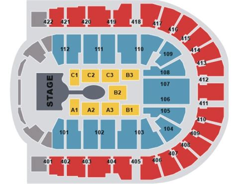 O2 Floor Seating Plan by O2 Arena London