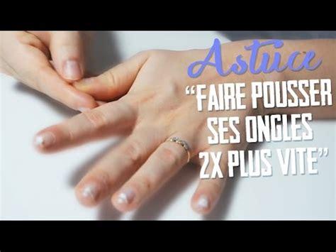 le pour les ongles astuces ongles les faire pousser 2x plus vite en un