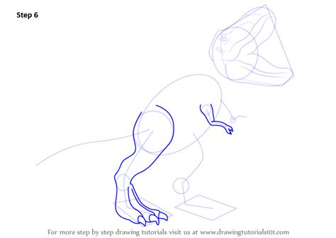 Drawing T Rex Step By Step by Learn How To Draw A Tyrannosaurus Rex Dinosaurs Step By