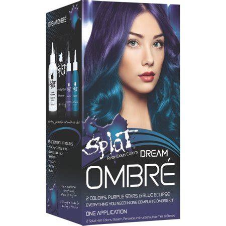 hair dye colors walmart splat rebellious colors ombre purple blue