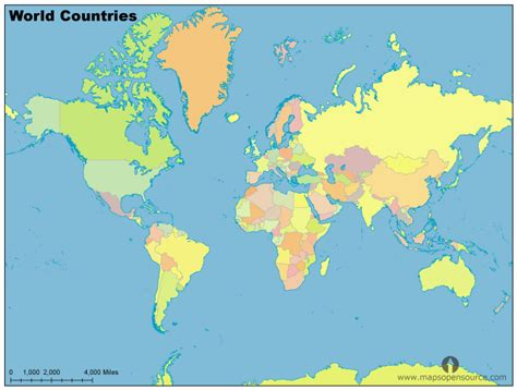 free world countries map countries map of world