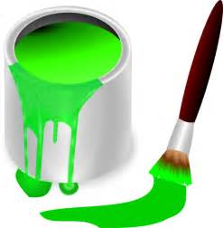 green paint green paint brush and can clip art at clker com vector clip art online royalty free public