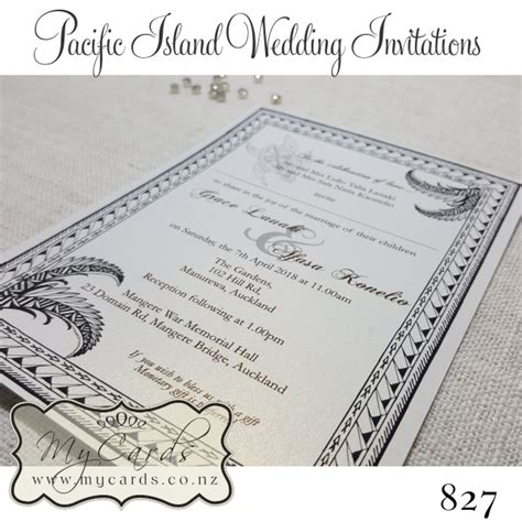 wedding invitations south auckland pacific island wedding invitations design 827 mycards akld nz