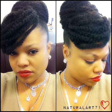 markey hair bun style close up marley bun w faux bang protectivestyles