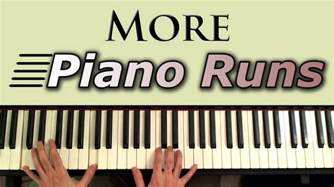 keyboard runs tutorial learn to play more piano runs and fills youtube