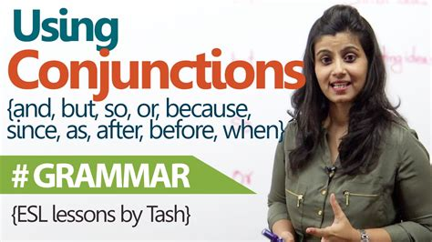 english tutorial online youtube english grammar lesson using conjunctions correctly in