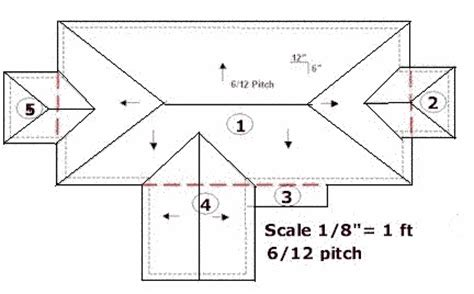 Hip Roof Dimensions Tips On Measuring Residential Roof Plans Roofgenius Com