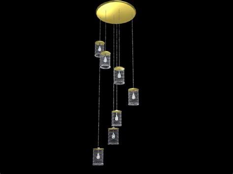Modern crystal hanging lamps 3d model 3dsMax files free