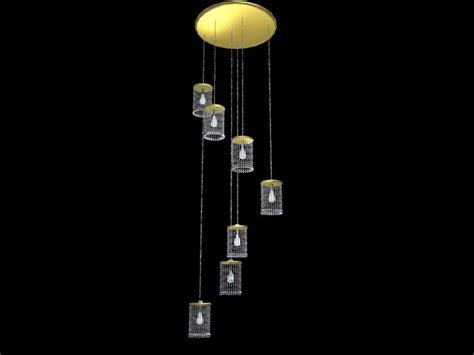 Modern crystal hanging lamps 3d model 3dsMax files free