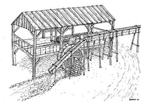 water mill coloring page cotton