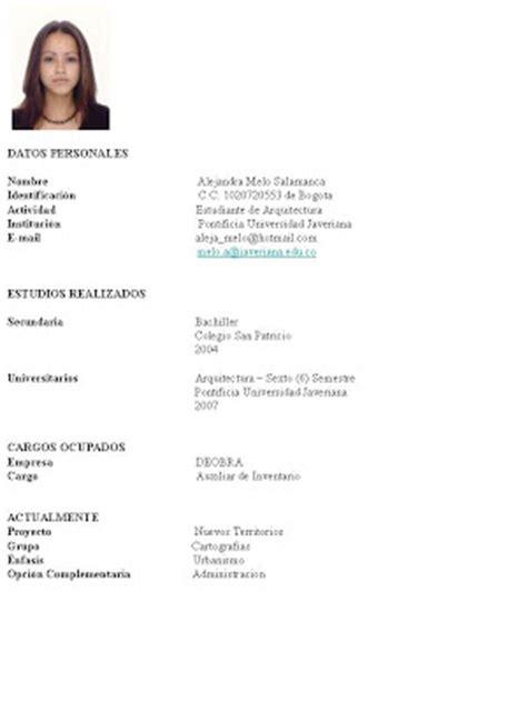 pagina para hacer una hoja de vida formato hoja de vida 2013 como hacer una hoja de vida en