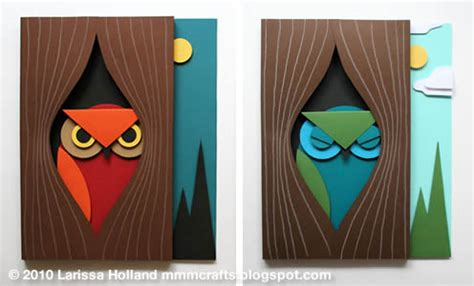 3d Craft Paper - 3d paper owl from mmmcrafts skip to my lou