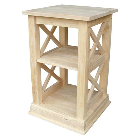 hton unfinished solid parawood bedside table bedside table brown rubberwood nightstands apartment bedrooms and international concepts hton bedside table unfinished