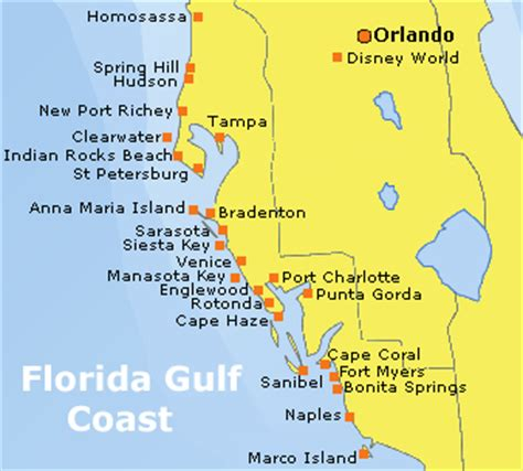 florida gulf coast map florida gulf of mexico map