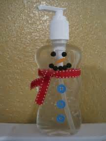 crafts and crap snowman hand sanitizer