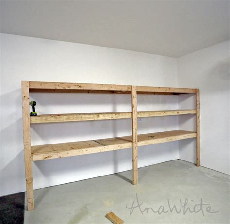 shelving ideas diy ana white easy and fast diy garage or basement shelving