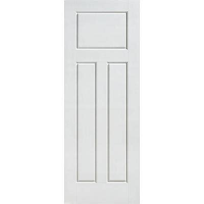 masonite glenview smooth 3 panel craftsman hollow core primed composite interior door slab 10560