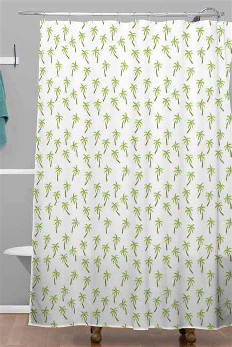 palm tree shower curtains pretty palm trees woven shower curtain wonder forest