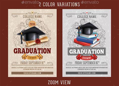 graduation ceremony invitation template graduation invitation template 30 psd ai eps format