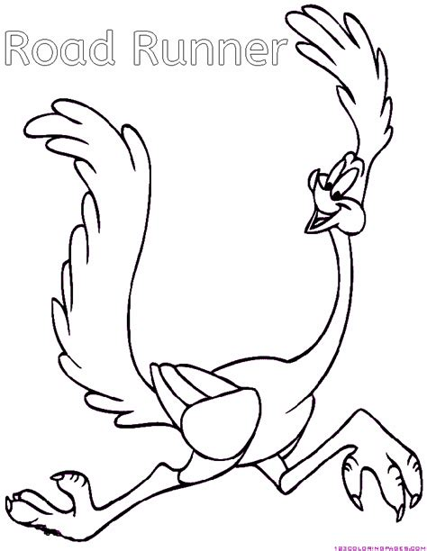 wile coyote and road runner coloring pages