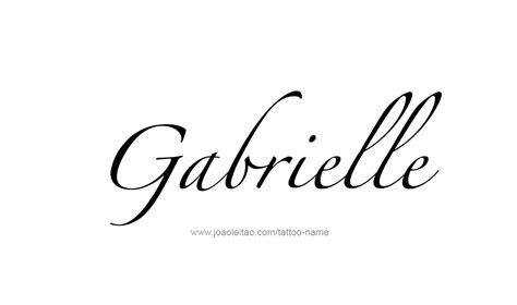 gabrielle name tattoo designs