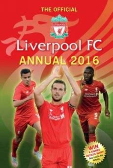 the official liverpool fc annual 2016 books whsmith