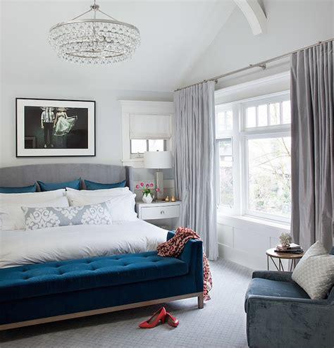 blue bedroom bench blue velvet bench contemporary bedroom terris lightfoot