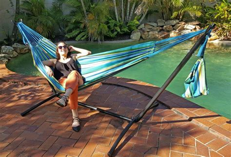 Stand Up Hammock Free Standing Hammock Teal Blue Canvas Hammock With Fixed