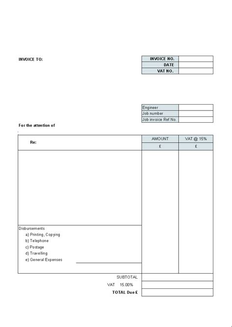 free simple templates blank invoice template helloalive