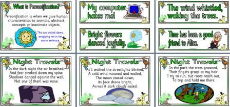 printable personification poster literacy resource ks2 personification poem and exles