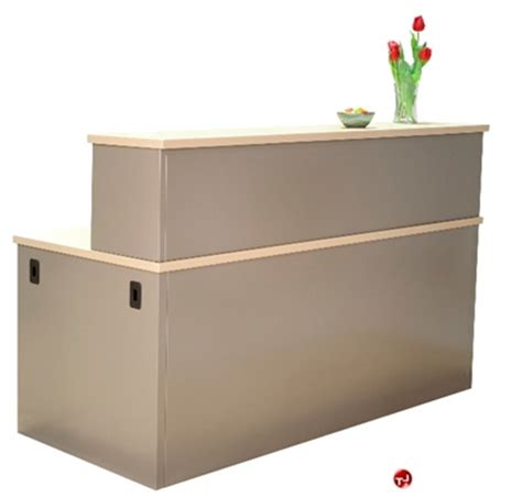 Steel Reception Desk The Office Leader 36 Quot X 72 Quot Steel Reception Desk Workstation