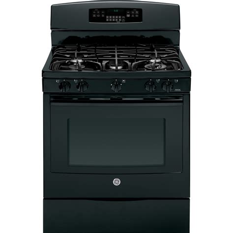 ge profile gas range pgb920defbb ge profile series 30 quot free standing self clean gas range black