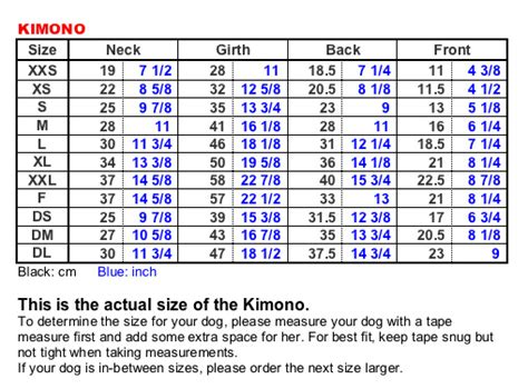 gramercy pet boutique size chart kimono yukata