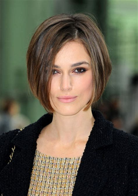 bobs that suit short necks keira knightley photos photos chanel fashion show zimbio